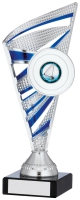 Silver And Blue Trophy 8.75 inches 22cm : New 2020