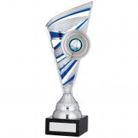 Silver And Blue Trophy 9.75 inches 24.5cm : New 2020