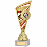 Gold And Red Trophy 9.75 inches 24.5cm : New 2020