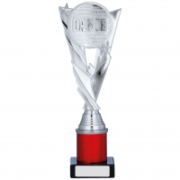 Silver/Red Trophy 10.25 inches 26cm : New 2020