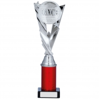 Silver/Red Trophy 11.25 inches 28.5cm : New 2020