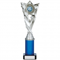Silver/Blue Trophy 11.25 inches 28.5cm : New 2020