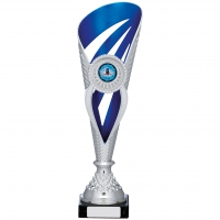 Silver And Blue Holder Trophy 12.5 inches 32cm : New 2020
