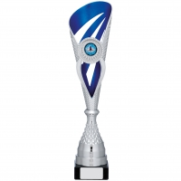 Silver And Blue Holder Trophy 15.25 inches 39cm : New 2020