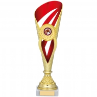 Gold And Red Holder Trophy 12.5 inches 32cm : New 2020