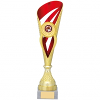 Gold And Red Holder Trophy 14 inches 35.5cm : New 2020