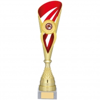 Gold And Red Holder Trophy 15.25 inches 39cm : New 2020