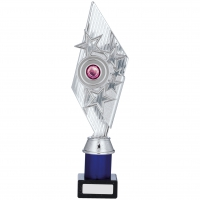Silver And Blue Holder Trophy 12.75 inches 32cm : New 2020