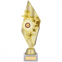Gold And Red Holder Trophy 11 inches 28cm : New 2020