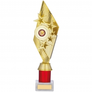 Gold And Red Holder Trophy 12.75 inches 32cm : New 2020