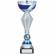 Silver And Blue Trophy 8.25 inches 21cm : New 2020