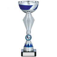 Silver And Blue Trophy 9 inches 22.5cm : New 2020