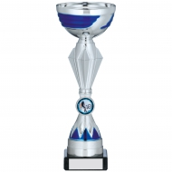 Silver And Blue Trophy 9.75 inches 25cm : New 2020