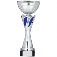 Silver And Blue Cup Trophy 11 inches 28cm : New 2020
