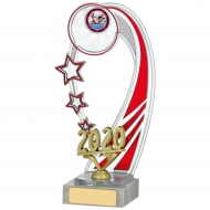 2020 Red Backdrop Trophy 8.75 inches 22cm : New 2020