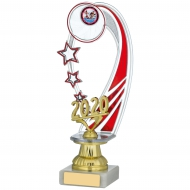 2020 Red Backdrop Trophy 9.25 inches 23.5cm : New 2020