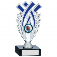 Silver And Blue Trophy 6.25 inches 15.5cm : New 2020