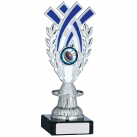 Silver And Blue Trophy 7.5 inches 19cm : New 2020