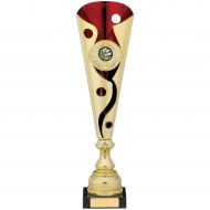 Gold Red Trophy 35.5cm : New 2019