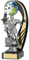 Male Football Backdrop Trophy Award