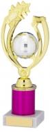 Gold Pink Trophy Award