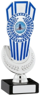 Silver And Blue Trophy Award