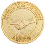 Head Teachers Round Badge Trophy Award