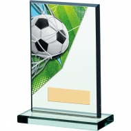 Football Acrylic Glass Award 6 inches 15cm : New 2020