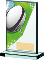 Rugby Acryclic Glass Award 5.25 inches 13cm : New 2020