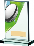 Rugby Acryclic Glass Award 6 inches 15cm : New 2020