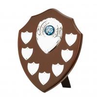 Mahogany finish 7 year shield 8 inches Trophy Award
