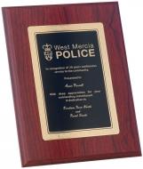 Mahogany Foil Plaque Trophy Award