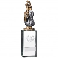 Golf Bag On Glass Block Award 23cm : New 2019