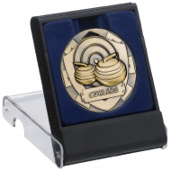 Curling Medal With Clear Top Box 5cm : New 2019
