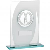 Male Golf Glass Trophy Award