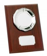 Mahogany Plaque With Tray Trophy Award