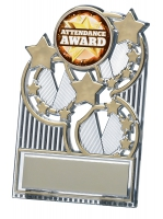 Gold star plaque 3.5 inches Trophy Award