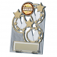 Gold star plaque 4.25 inches Trophy Award