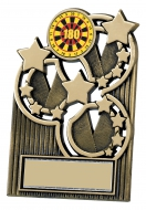 Antique gold star plaque 4.25 inches Trophy Award