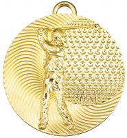 Golf male medal 2 inches Trophy Award