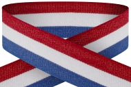Red white and blue 22mm wide ribbon Trophy Award