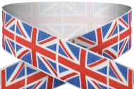 Union jack printed 22mm wide ribbon Trophy Award