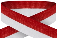 Red white 22mm wide ribbon Trophy Award