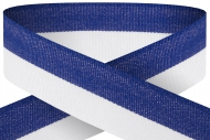 Blue white 22mm wide ribbon Trophy Award