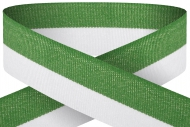 Green white 22mm wide ribbon Trophy Award