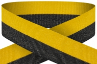 Black yellow 22mm wide ribbon Trophy Award