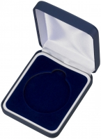 Blue Padded Medal Box Trophy Award