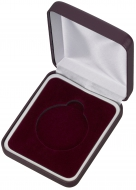 Maroon Padded Medal Box 50mm : New 2020