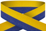Blue yellow 22mm wide ribbon Trophy Award