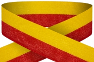 Red yellow 22mm wide ribbon Trophy Award